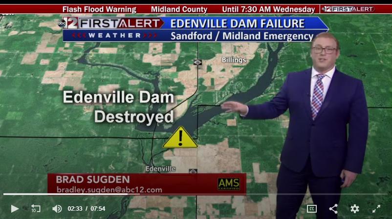 edenville dam destroyed midland michigan flood