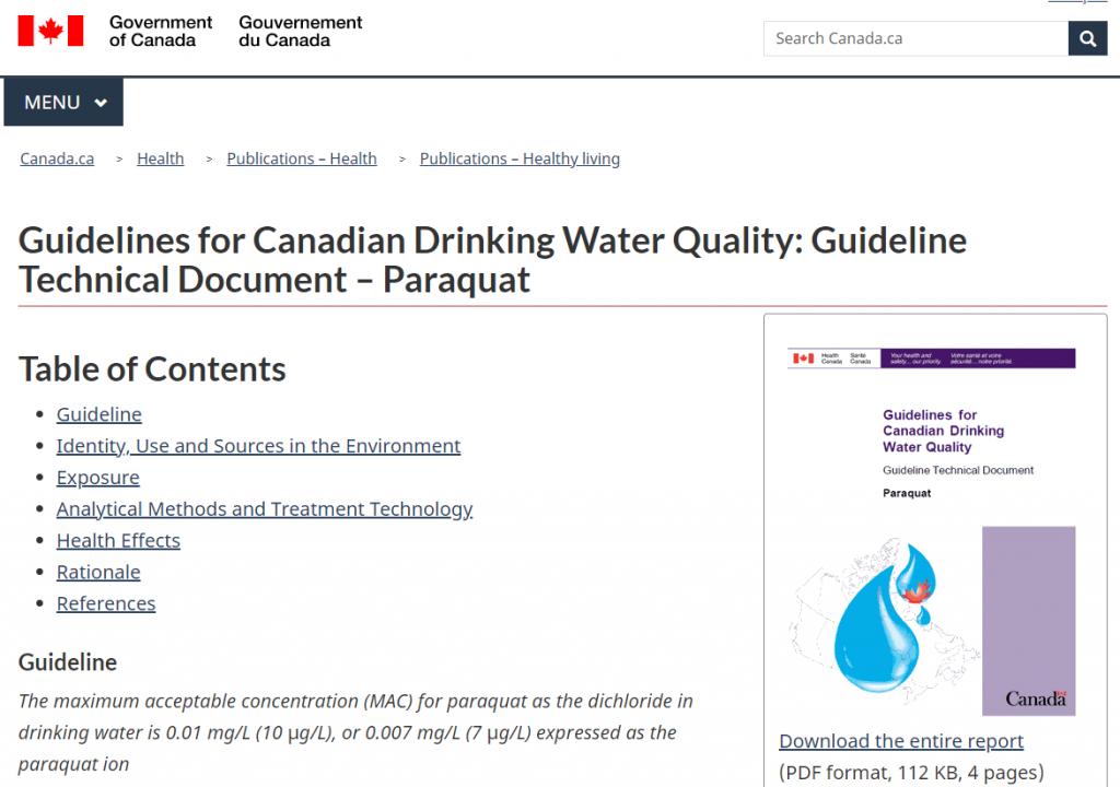 Paraquat Lawsuit Canada Health